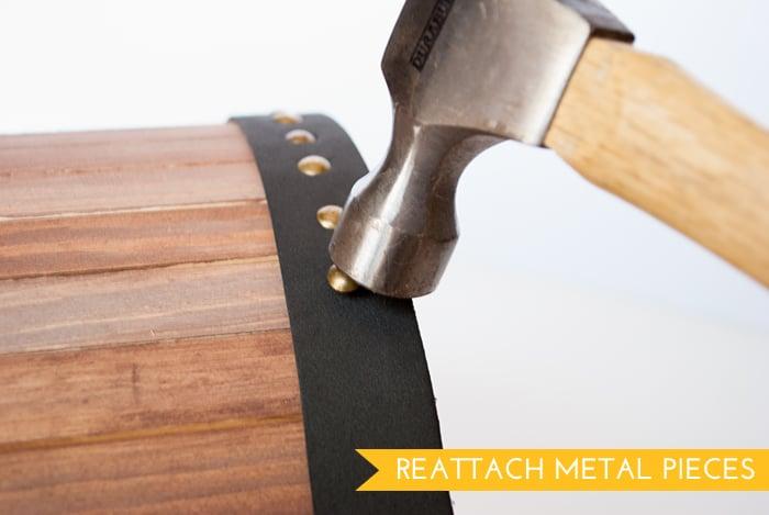Reattach Metal Pieces