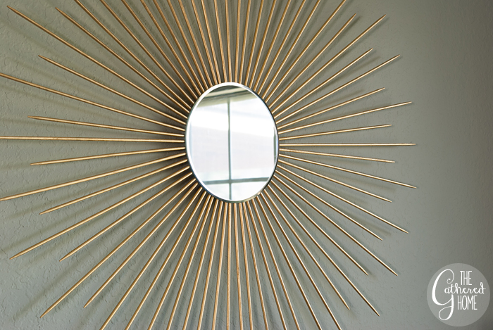 Sunburst Mirror Easy DIY Tutorial 3