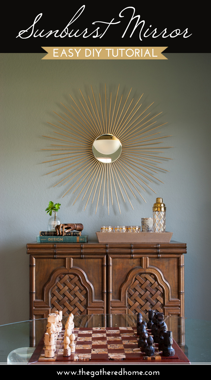 Sunburst Mirror Easy DIY Tutorial