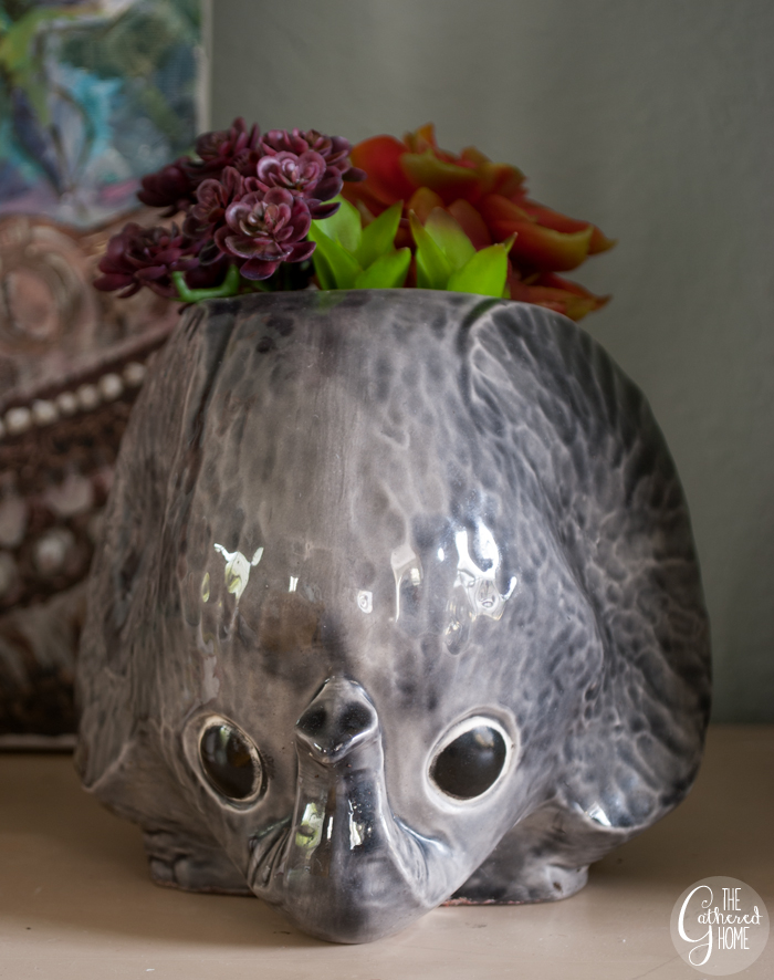 Thrift Score Thursday little gray elephant planter 3