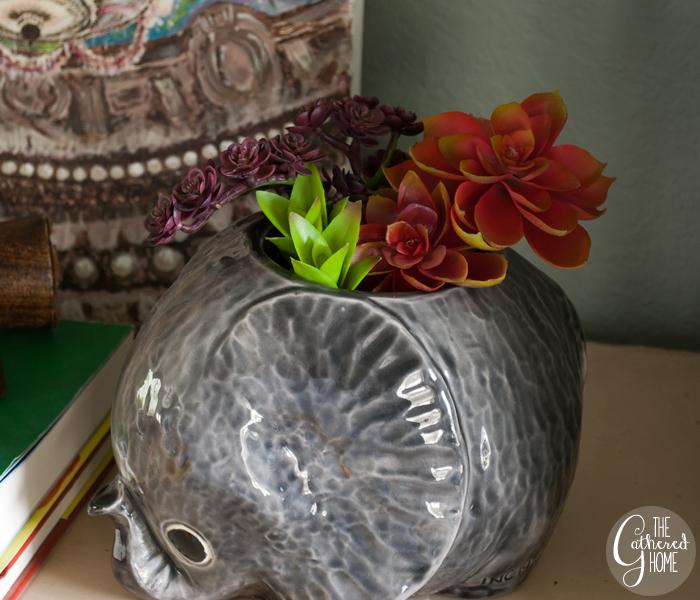 Thrift Score Thursday little gray elephant planter 4