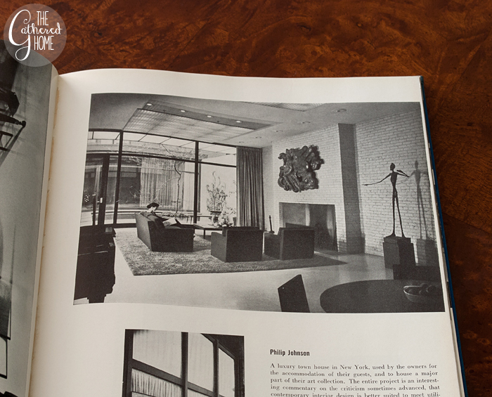 Living Room design by Philip Johnson, Living Spaces edited by George Nelson