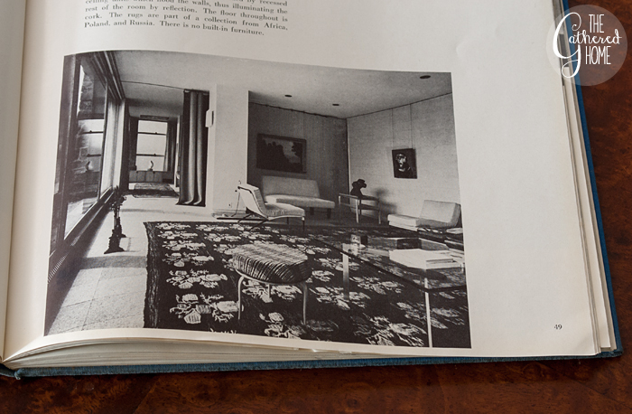Room design by Edgar Kaufmann Jr., Living Spaces edited by George Nelson
