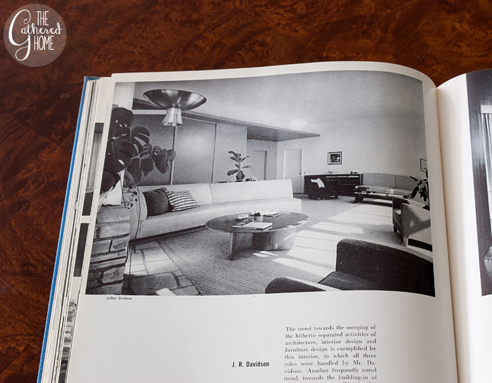 Living room designed by J.R. Davidson, Living Spaces edited by George Nelson