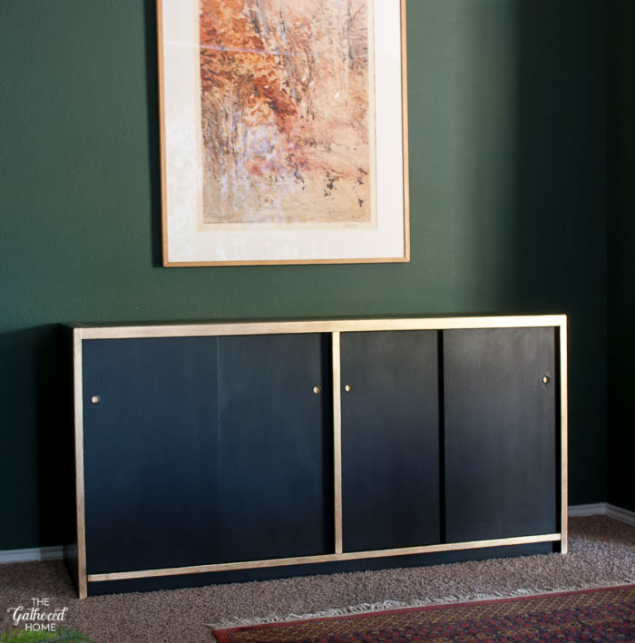 DIY Black and Gold Leaf Sideboard with Amy Howard One Step Paint-1-10