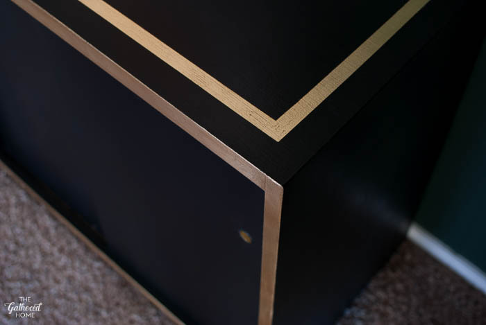 DIY Black and Gold Leaf Sideboard with Amy Howard One Step Paint-1-11
