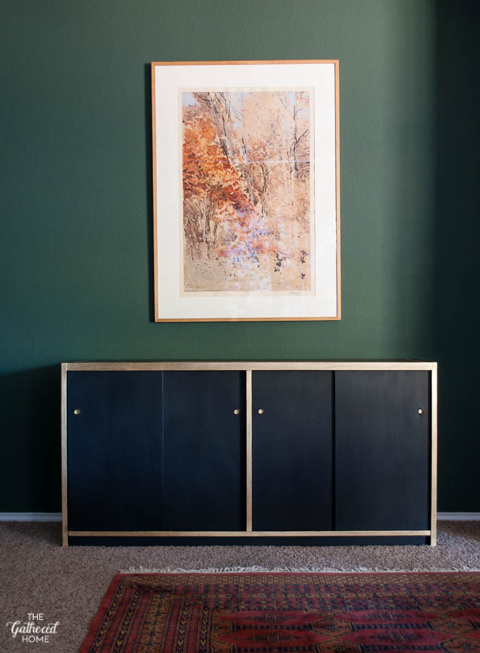 DIY Black and Gold Leaf Sideboard with Amy Howard One Step Paint-1-9