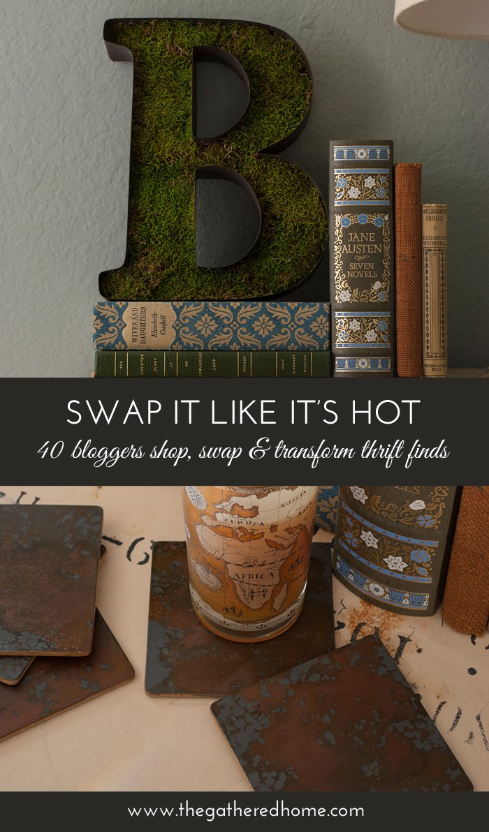"Whoa! Wait until you see the ""before"" for these projects that started with a box of mystery thrift supplies... Did you know you could create an actual, authentic rust patina at home? Get the full tutorial here!"