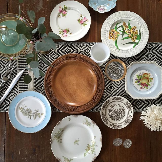Thrift Score Thursday feature china pattern mixing via angiesroost