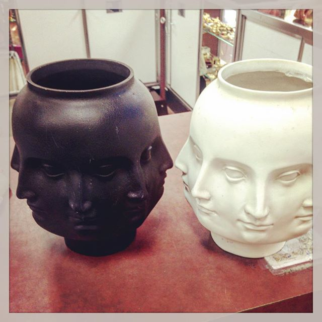 Thrift Score Thursday feature jonathan adler style head vases via love_recycled