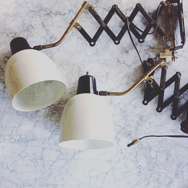 Thrift Score Thursday feature vintage accordion sconces via blissathome1