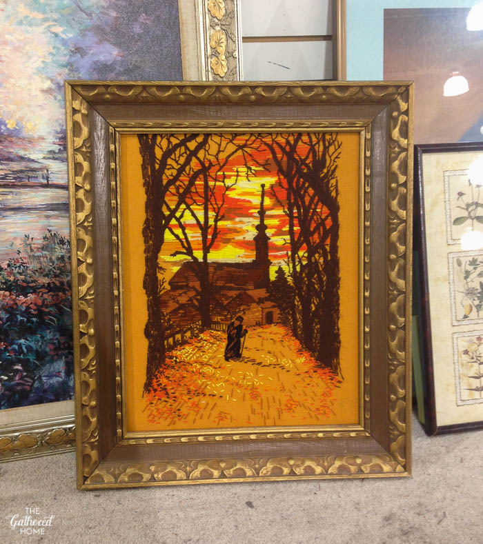 Things I Didn't Buy At The Thrift Store - embroidery art