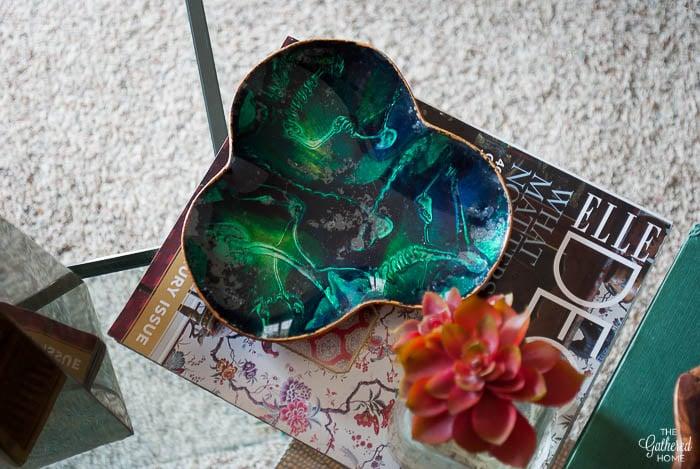 Thrift Score Thursday vintage green glass plate