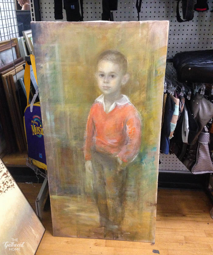 Things I Didn't Buy At The Thrift Store - young boy pastel art