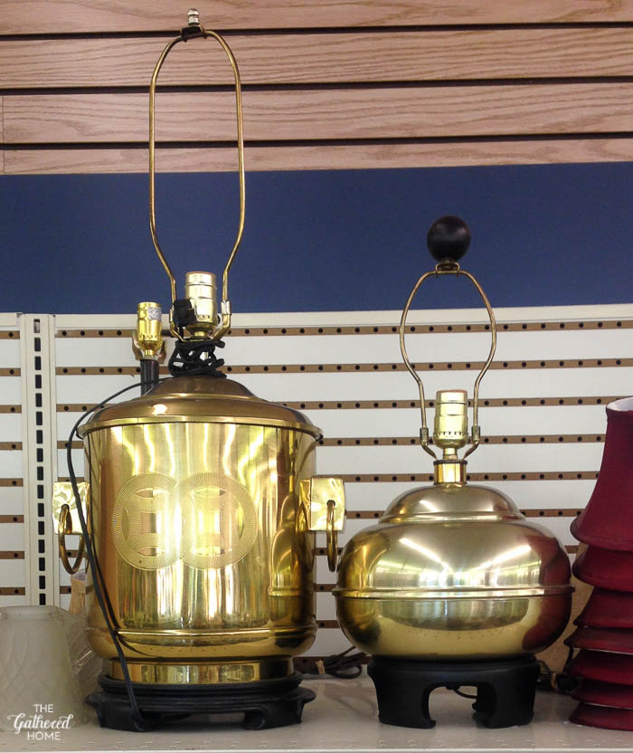 Things I Didn't Buy At The Thrift Store - brass chinoiserie lamps