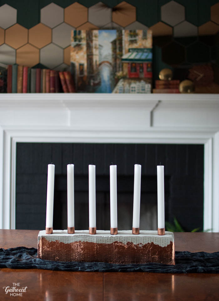 DIY Copper & Cement Candle Holder