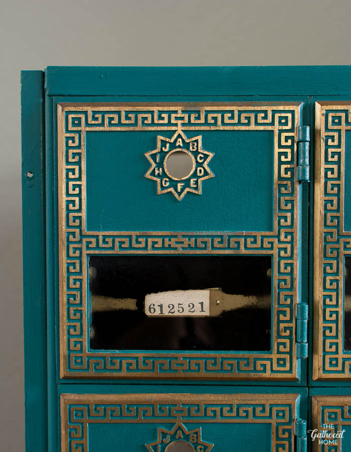 DIY Vintage Post Office Box custom color matched to antique book-6