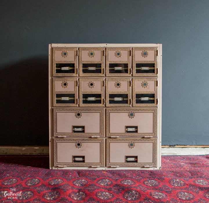 Diy Vintage Post Office Box Makeover The Gathered Home