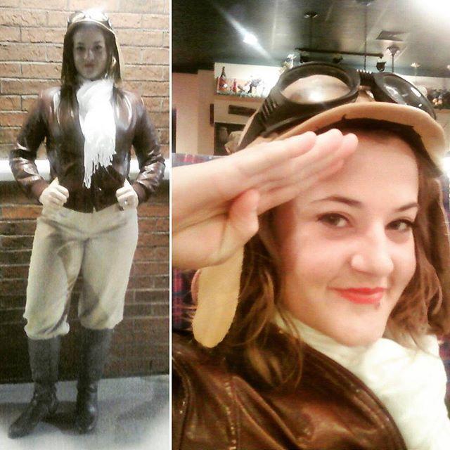 Thrift Score Thursday feature Amelia Earhart costume via hudginsathome