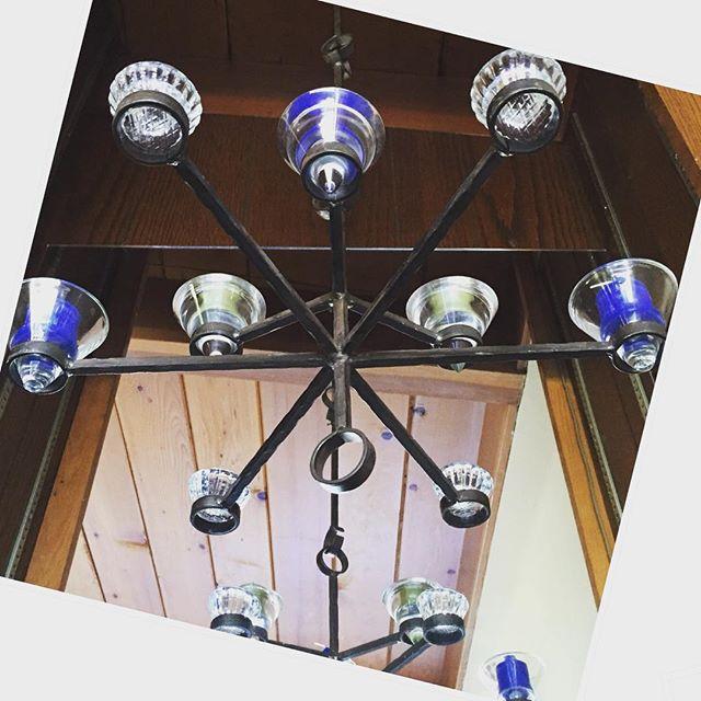 Thrift Score Thursday feature Erik Hoglund midcentury iron chandelier via a_midcentury_experience