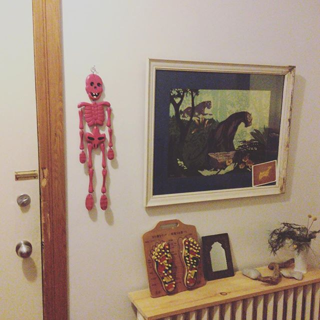 Thrift Score Thursday feature pink skeleton via meowradio