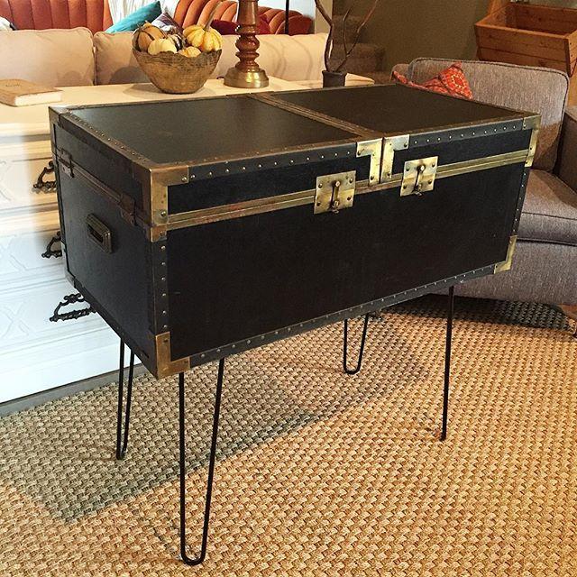 Thrift Score Thursday vintage campaign trunk via thriftedriches