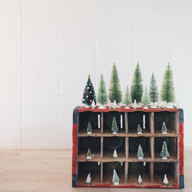 Thrift Score Thursday feature vintage crate and bottlebrush trees via the.holland.house