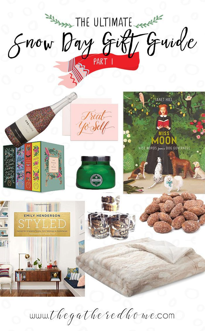 "8 ""Snow Day Survival Kit"" gift guides pairing a great read with some warm goodies... Because there's nothing better on a cold winter day than some quality couch time! Give the perfect ""snow day in a box"" to someone special!"