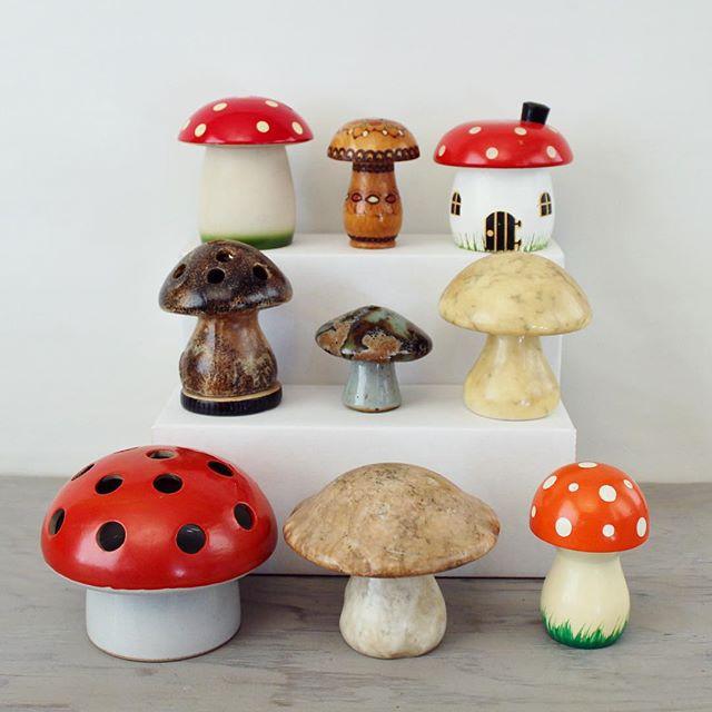 Thrift Score Thursday feature mushroom collection via suite22antiques