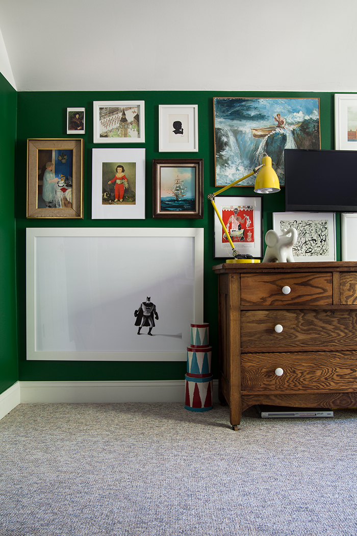 Eclectic gallery wall via the makerista