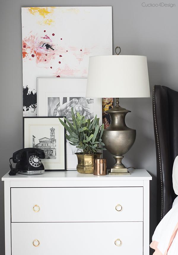 Layered nightstand artwork 2 via Cuckoo4Design