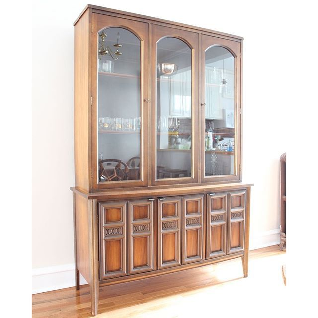 Thrift Score Thursday feature mid century china cabinet via mayricherfullerbe