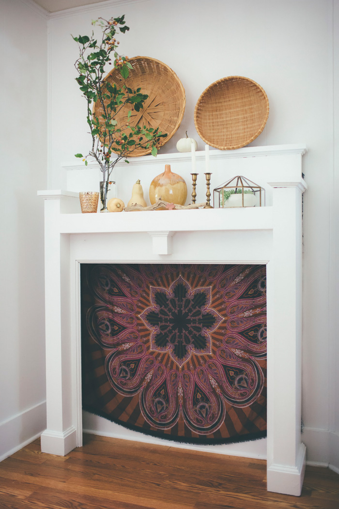 Bohemian Fall Mantel via Thoughts rom Alice