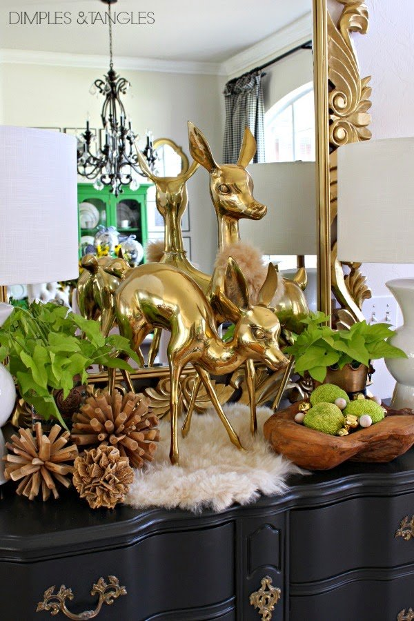Large brass deer via Dimples and Tangles