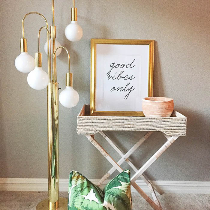 Thrift Score Thursday feature brass mid century floor lamp via claire_brody