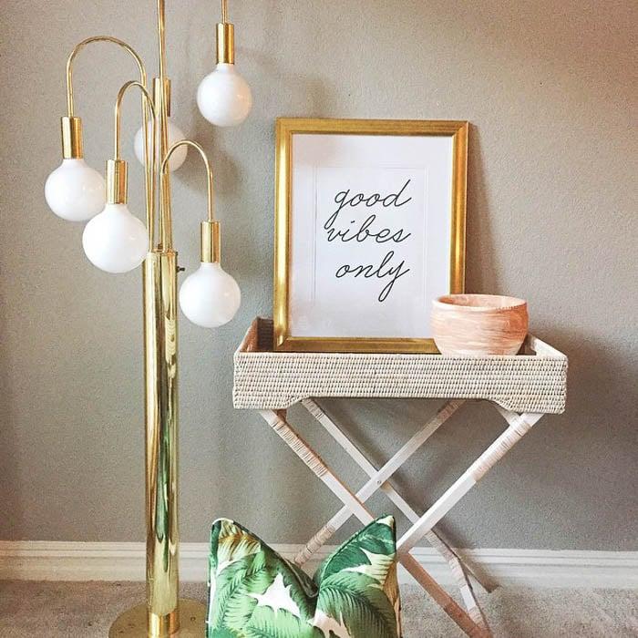 Thrift Score Thursday feature brass mid century floor lamp via claire_brody