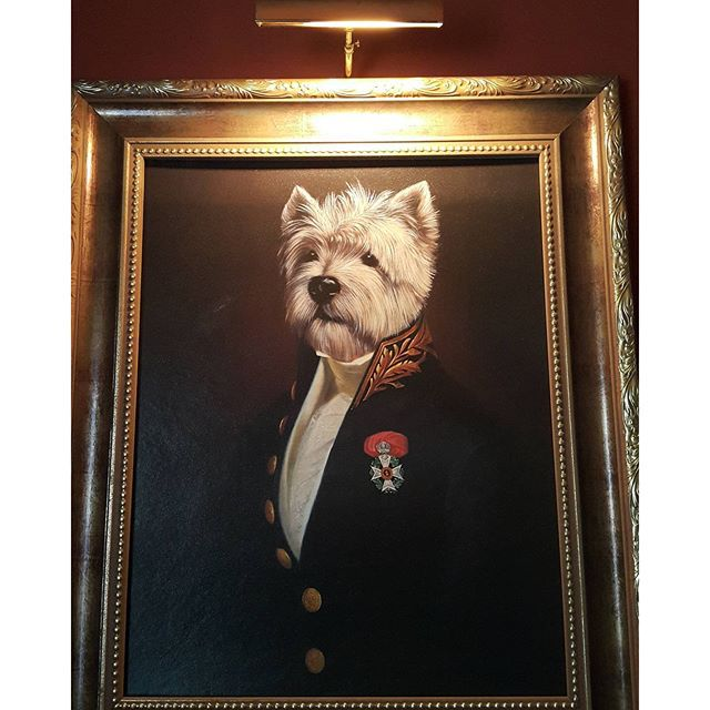 Thrift Score Thursday feature distinguished dog painting via renewedbydeezign