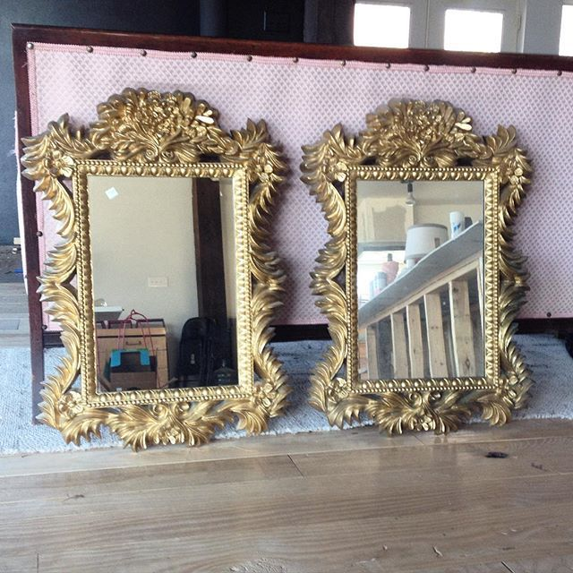 Thrift Score Thursday feature twin gold mirrors via silverandpine