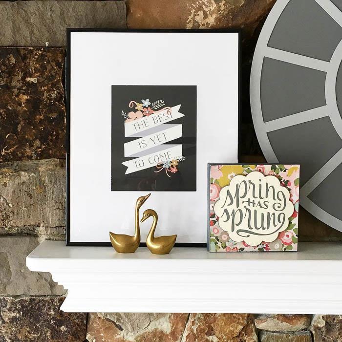 Thrift Score Thursday feature vintage brass swans via thehowtogal