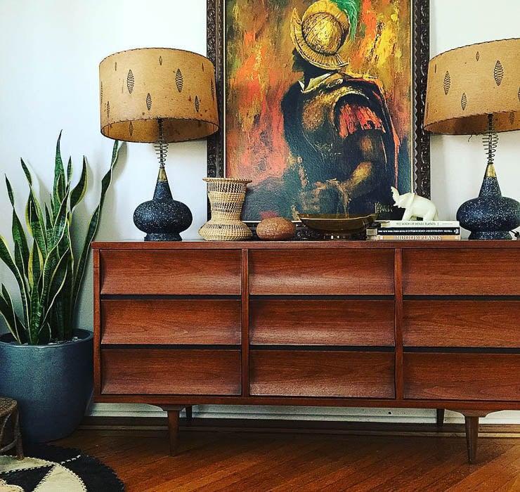 Thrift Score Thursday feature vintage dresser vignette via ball_and_claw_vintage