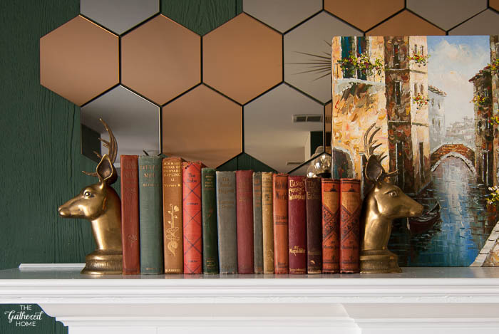 Vintage brass reindeer bookends - how to strip paint from brass-3
