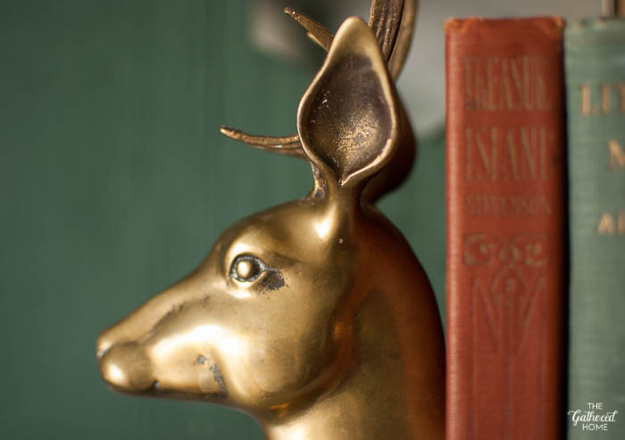 Vintage brass reindeer bookends - how to strip paint from brass