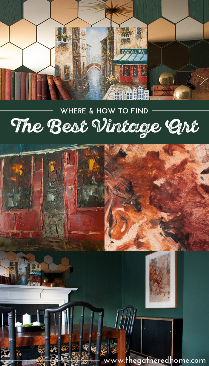 Do you love vintage art but never have good luck finding the real treasures? You won't want to miss this guideon where & how to find the best vintage art, including some online sources you might not know about! // www.thegatheredhome.com