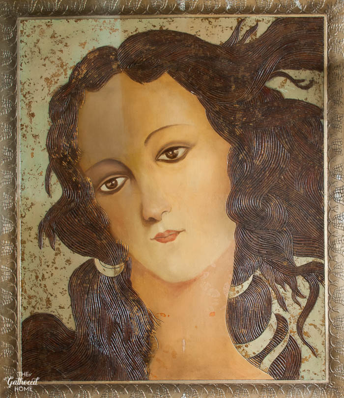 How to find vintage art - The Gathered Home's tips and sources for finding the best vintage art! // This Botticelli study was found at a thrift store.