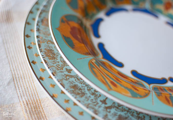 Aqua China Pattern Mixing The Gathered Home
