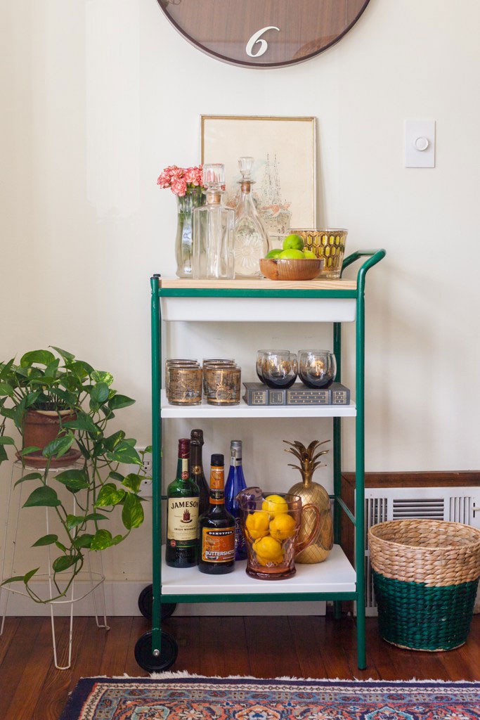 Bar Cart Styling via Britt Kingery