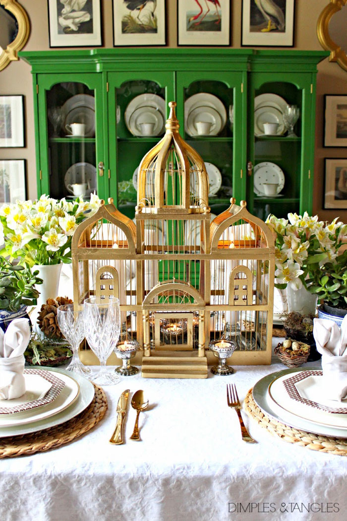 Easter Table Setting via Dimples & Tangles
