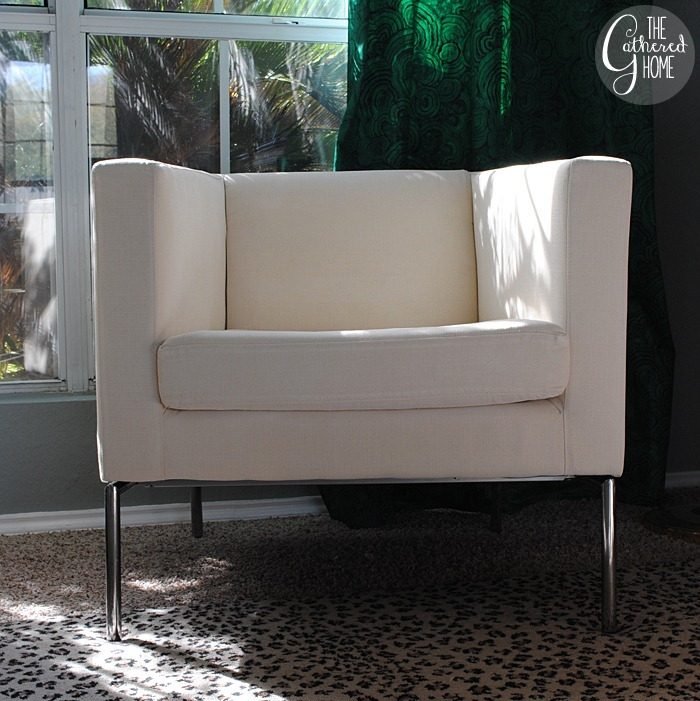 Admirable Diy Ikea Hack Cream And Black Club Chairs The Gathered Home Inzonedesignstudio Interior Chair Design Inzonedesignstudiocom