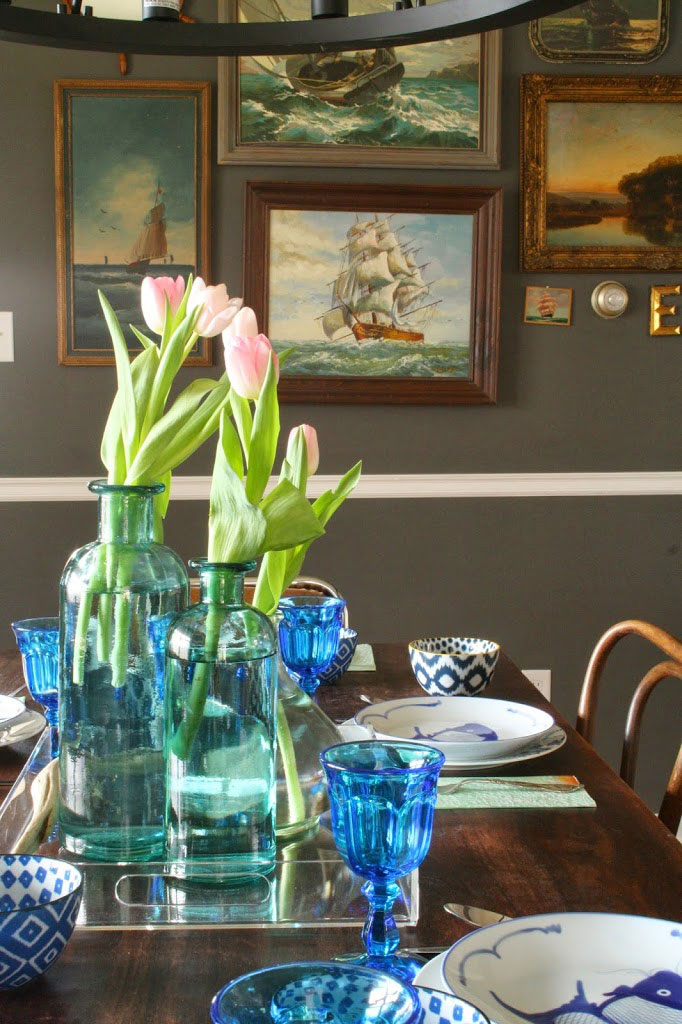 Nautical Spring Table Setting via Primitive & Proper
