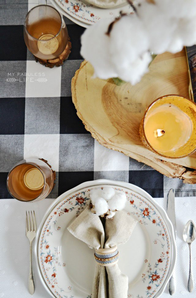 Simple Meaningful Thanksgiving Table via My Fabuless Life